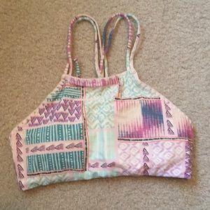 Multi colored bikini top